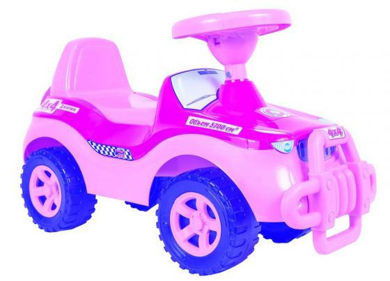 Каталка-машинка R-Toys Джипик пластик от 8 месяцев с клаксоном розовый ОР105 каталка машинка rich toys джипик police пластик от 8 месяцев с клаксоном красный ор105