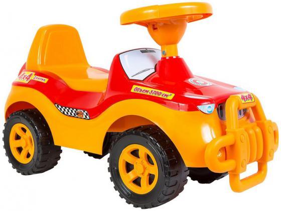 Каталка-машинка Rich Toys Джипик POLICE пластик от 8 месяцев с клаксоном красный ОР105 каталка rich toys гоночный спорткар super sport 1 пластик от 10 месяцев черно красный ор894