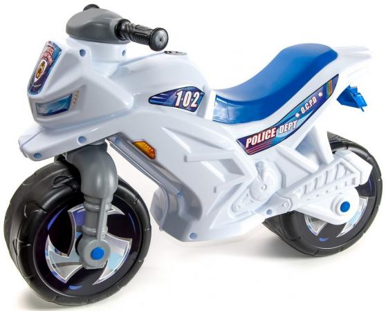 Каталка-мотоцикл R-Toys Racer RZ 1 Полиция пластик от 18 месяцев со шлемом бело-синий ОР501в2 каталка мотоцикл rt скутер розовый ор502