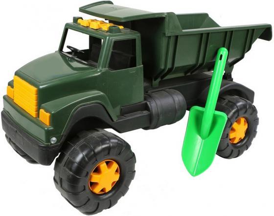 Самосвал RT Интер BIG Военный (лопата) 58 см хаки автомобиль rt ор184 интер big цветной лопата и пасочка синий с зеленым