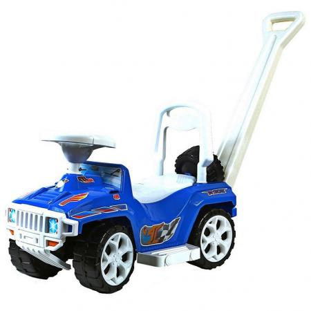 Каталка-машинка Rich Toys Mini Formula 1 пластик от 10 месяцев с ручкой для родителей синий ОР856 каталка rich toys гоночный спорткар super sport 1 пластик от 10 месяцев черно красный ор894