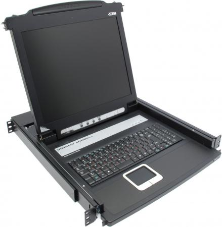 Консоль KVM ATEN CL1000M-ATA-RG LCD 17 консоль kvm aten cl5800nr lcd 17