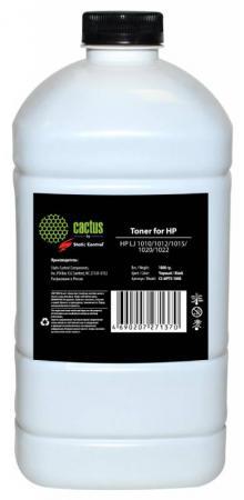 Тонер Cactus CS-MPT5-1000 для HP LaserJet 1010/1012/1015/1020/1022 черный 1000гр тонер cactus cs thp1 10kg для hp lj 1010 1012 1015 черный 10000грамм пакет