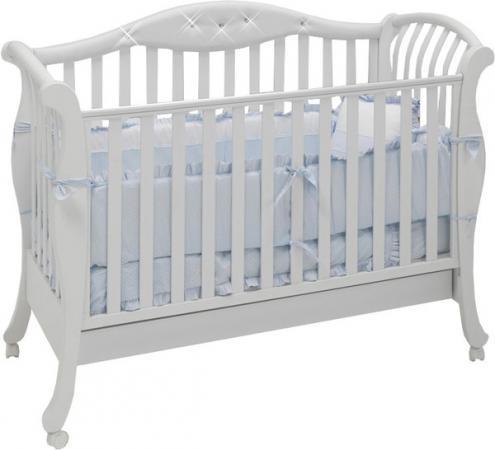 все цены на Кроватка Bambolina Divina Glamour Cristallo (белый) онлайн