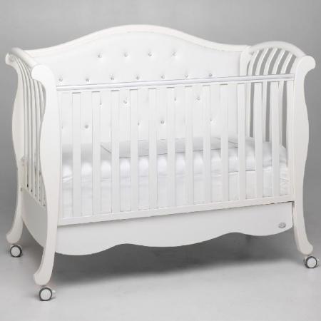Кроватка Bambolina Divina Lux Cristallo (белый) кроватка bambolina divina lux cristallo 125х65 орех