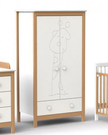 Шкаф двухстворчатый Fiorellino Giraffe (white/natur) цены