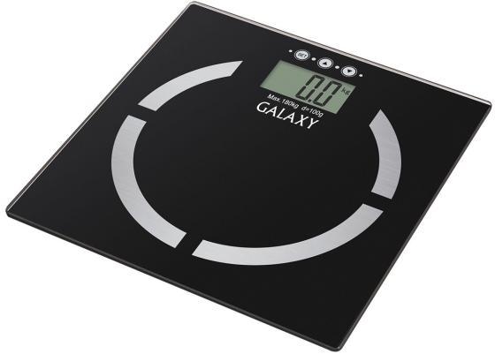 Весы напольные GALAXY GL 4850 чёрный напольные весы galaxy axy gl 4850