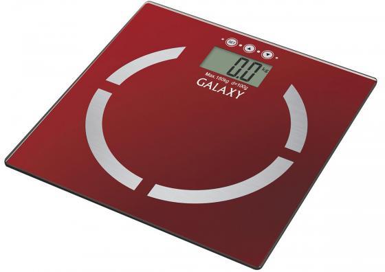 Весы напольные GALAXY GL 4851 красный весы напольные galaxy gl 4801