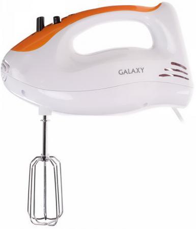 цена на Миксер ручной GALAXY GL 2205 300 Вт белый оранжевый