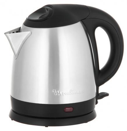 Чайник Moulinex BY430DRU 1500 Вт 1.5 л металл серебристый чёрный мясорубка moulinex me108832 300 вт серебристый чёрный