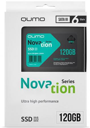 Твердотельный накопитель SSD 2.5 120 Gb QUMO Novation MM Read 510Mb/s Write 140Mb/s MLC QMM-120GSN alpina granby s qmm black matt qmm red sph s2