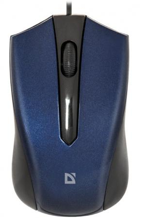 Мышь проводная DEFENDER Accura MM-950 синий USB 52952 цена