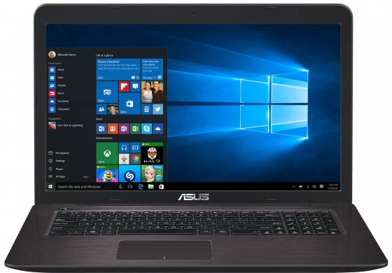 Ноутбук ASUS K756UJ 17.3 1600x900 Intel Core i3-6100U 1 Tb 6Gb nVidia GeForce GT 920M 2048 Мб коричневый Windows 10 Home 90NB0A21-M00890 ноутбук asus k756uj 90nb0a21 m00890