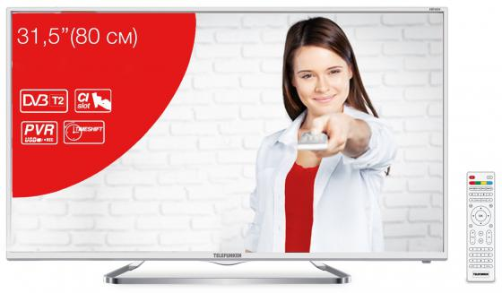 Телевизор 32 Telefunken TF-LED32S38T2 белый 1366x768 50 Гц USB SCART VGA S/PDIF телевизор led 32 lg 32lx341c черный 1920x1080 50 гц scart vga s pdif usb