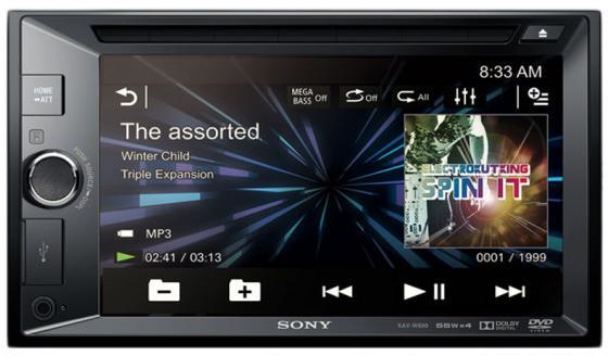 Автомагнитола SONY AV-W600 CD DVD 2DIN 4x55Вт