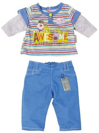 Одежда для кукол Zapf Creation Baby Born для мальчика 822-197 в ассортименте одежда для кукол zapf creation baby born халат с капюшоном веш