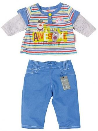 Одежда для кукол Zapf Creation Baby Born для мальчика 822-197 в ассортименте zapf creation одежда стильная для мальчика синие штаны baby born