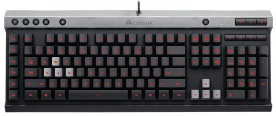 Клавиатура проводная Corsair Gaming Raptor K30 USB черный CH-9000224-RU клавиатура corsair gaming k70 rapidfire cherry mx speed black usb [ch 9101024 ru]