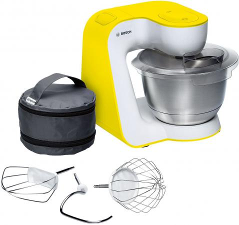 Кухонный комбайн Bosch MUM54Y00 белый, желтый