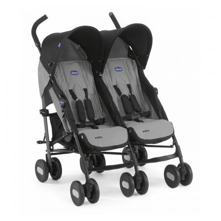 Коляска-трость для для двоих детей Chicco Echo Twin Stroller (coal)