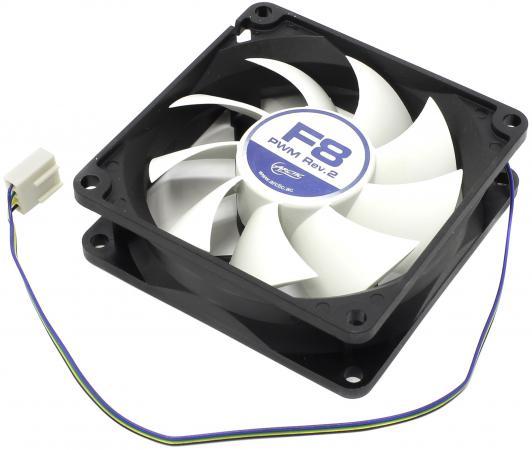Вентилятор Arctic Cooling  F8 PWM Rev.2 80мм 2000об/мин AFACO-080P2-GBA01 вентилятор arctic cooling f12 pwm rev 2 afaco 120p2 gba01 120mm