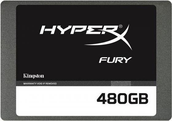 Твердотельный накопитель SSD 2.5 480 Gb Kingston HyperX Fury Read 450Mb/s Write 208Mb/s SATA III SHFS37A/480G kingston hyperx predator 480 gb ssd