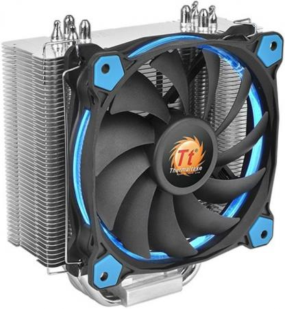 Кулер для процессора Thermaltake Riing Silent 12 Blue Socket 2011/1366/1150/1155/775/AM3/AM2/FM1/FM2 CL-PO22-AL12BU-A вентилятор thermaltake riing 14 140x140x25 3pin 22 1 28 1db yellow lnc cl f039 pl14yl a