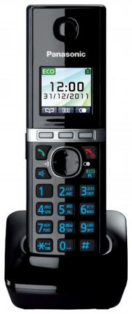 Радиотелефон DECT Panasonic KX-TGA806RUB черный радиотелефон dect panasonic kx tgp600rub черный