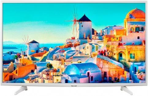 Телевизор 49 LG 49UH619V белый 3840x2160 Smart TV Wi-Fi USB RJ-45 WiDi телевизор led 65 lg oled65e6v серый 3840x2160 120 гц wi fi smart tv rj 45 bluetooth widi