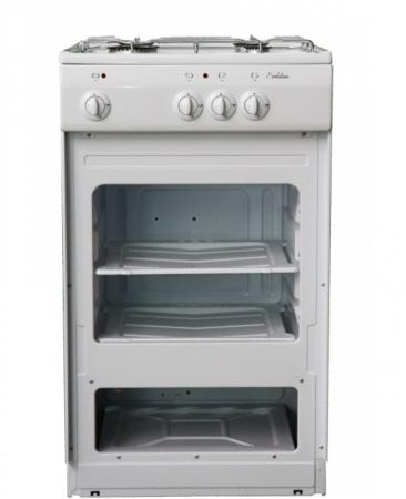 Газовая плита De Luxe 5040.39г щ белый газовая плита de luxe 5040 45г щ 001 газовая духовка белый