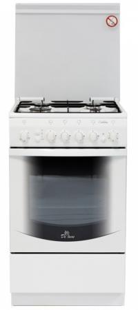 Газовая плита De Luxe 5040.31г ЧР белый газовая плита de luxe 606040 24 001г кр чр газовая духовка белый