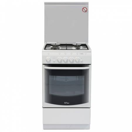 Газовая плита De Luxe 5040.44г ЧР белый газовая плита de luxe 606040 24 000г кр чр серебристый