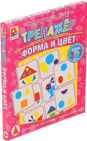 Настольная игра развивающая Радуга Тренажер. Форма и цвет С-966 игра настольная развивающая для детей радуга тренажер обучение грамоте