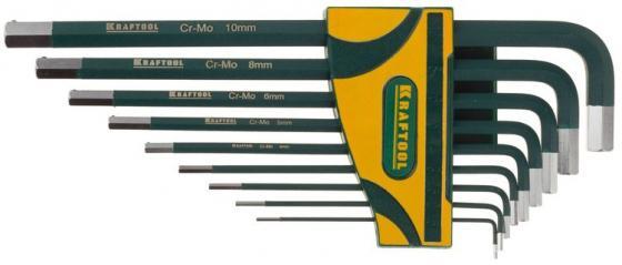 Набор ключей имбусовых Kraftool INDUSTRIE 9шт 27445-H9 набор ключей имбусовых длинных kraftool industrie 27444 h13