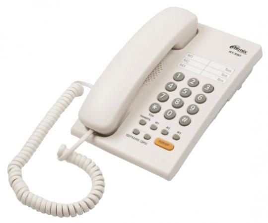 Фото Телефон Ritmix RT-330 белый телефон ritmix rt 003 черный