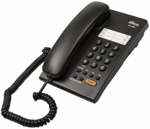 Телефон Ritmix RT-330 черный телефон ritmix rt 003 черный
