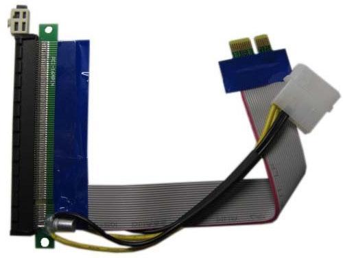 Переходник PCI-E X1-X16 питание Espada EPCIEX1-16pw 39930