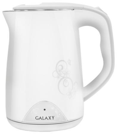 Чайник GALAXY GL0301 2000 Вт белый рисунок 1.5 л пластик цена и фото