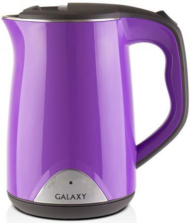 Чайник GALAXY GL0301 2000 Вт фиолетовый 1.5 л пластик чайник galaxy gl0301 белый