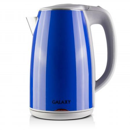 лучшая цена Чайник GALAXY GL0307 2000 Вт синий 1.7 л металл/пластик