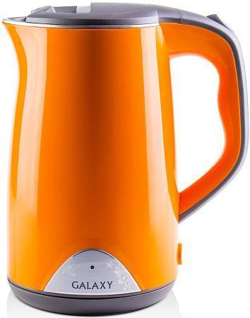 Чайник GALAXY GL0313 2000 Вт 1.7 л нержавеющая сталь оранжевый сковорода galaxy gl 9818