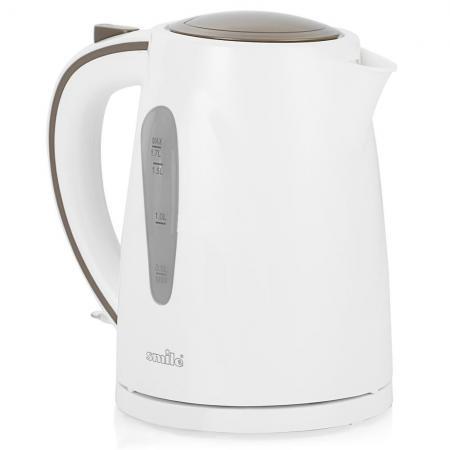 Чайник Smile WK5304 2200 Вт 1.7 л пластик белый чайник smile wk5304 2200 вт 1 7 л пластик белый