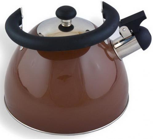 Чайник Катунь КТ-106B 2.5 л нержавеющая сталь шоколад чайник катунь кт 106f бирюзовый 2 5 л нержавеющая сталь