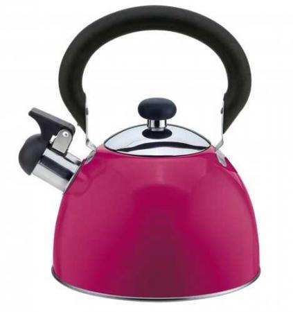 Чайник Катунь КТ-106А 2.5 л нержавеющая сталь пурпурный мантоварка катунь кт 243м 24 см 4 5 л нержавеющая сталь