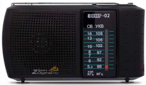 Радиоприемник Сигнал Эфир-02 черный радиоприемник сигнал cr 169 черный