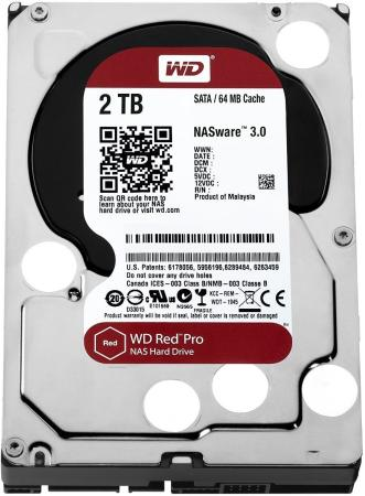 Жесткий диск 3.5 2 Tb 7200rpm 64Mb cache Western Digital Red Pro SATAIII WD2002FFSX жесткий диск 3 5 8 tb 5400rpm 128mb cache western digital purple sataiii wd80purz