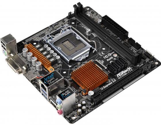 Материнская плата ASRock H110M-ITX Socket 1151 H110 2xDDR4 1xPCI-E 16x 4 mini-ITX Retail asrock h110m g m 2