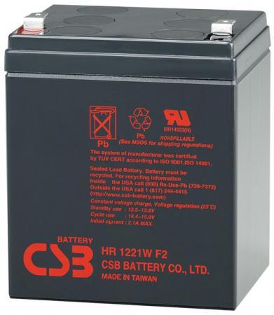 Батарея CSB HR1221WF2 12V/5AH батарея ginzzu gb 1245 12v 4 5ah