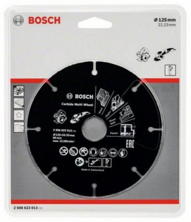 Отрезной круг Bosch 125х22мм 2608623013 по дереву отрезной круг bosch 300х25 4мм 2608623013 по дереву