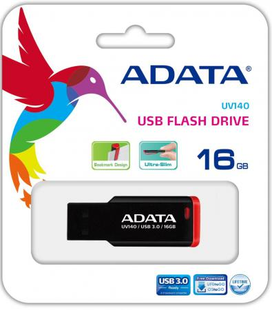 Флешка USB 16Gb A-Data UV140 AUV140-16G-RKD красный usb flash drive 16gb a data uv140 usb 3 0 black blue auv140 16g rbe